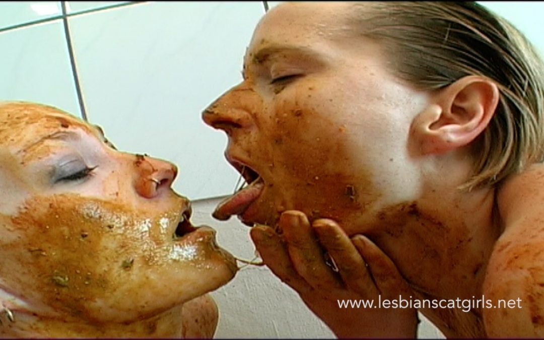 Two Scat Lesbians in the Bathroom